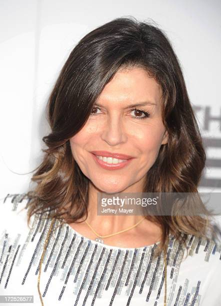 Actress Finola Hughes arrives at the 'This Is The End' Los Angeles premiere at Regency Village Theatre on June 3 2013 in Westwood California