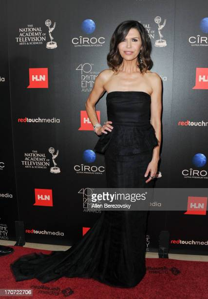 Actress Finola Hughes attends 40th Annual Daytime Entertaimment Emmy Awards Arrivals at The Beverly Hilton Hotel on June 16 2013 in Beverly Hills...