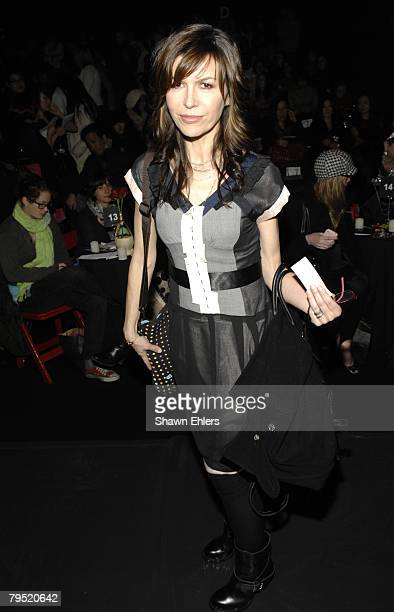 Actress Finola Hughes attends Betsey Johnson Fall 2008 during Mercedes-Benz Fashion Week at The Tent, Bryant Park on February 04, 2008 in New York...