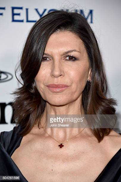 Actress Finola Hughes attends The Art of Elysium 2016 HEAVEN Gala presented by Vivienne Westwood Andreas Kronthaler at 3LABS on January 9 2016 in...