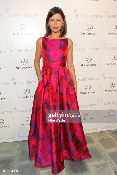 Actress Finola Hughes attends The Art of Elysium's 7th Annual HEAVEN Gala presented by MercedesBenz at Skirball Cultural Center on January 11 2014 in...