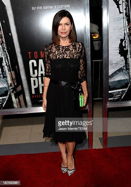Actress Finola Hughes attends the premiere of Columbia Pictures' 'Captain Phillips' at the Academy of Motion Picture Arts and Sciences on September...