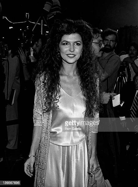 Actress Finola Hughes attends the premiere of 'Stayin Alive' on July 11 1983 at Mann Chinese Theater in Hollywood California