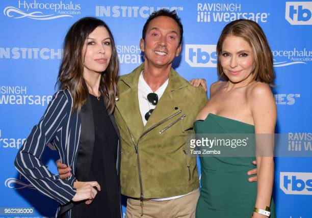 Actress Finola Hughes choreographer/TV personality Bruno Tonioli and actress Lisa LoCicero attend 'In Stitches A Night Of Laughs' comedy event...