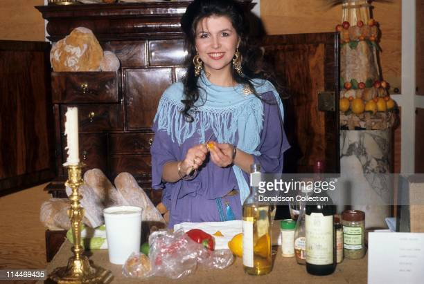 Actress Finola Hughes on Cooking With the Stars in 1986 in Los Angeles California