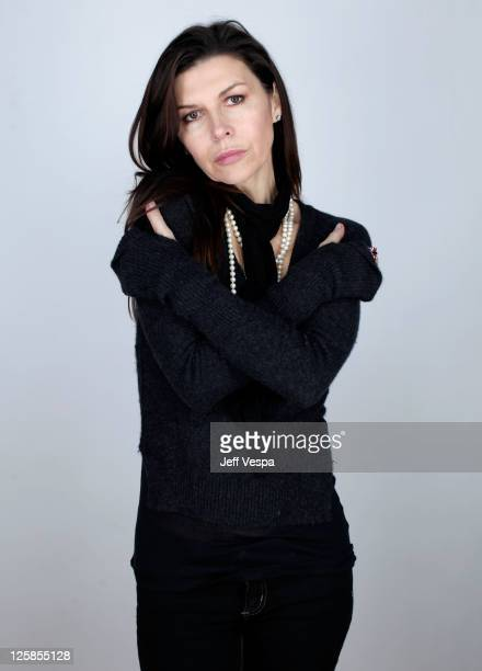 Actress Finola Hughes poses for a portrait during the 2011 Sundance Film Festival at the WireImage Portrait Studio at The Samsung Galaxy Tab Lift on...