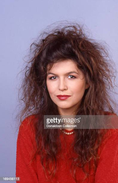 Actress Finola Hughes poses for a portrait session at home in 1986 in Los Angeles California