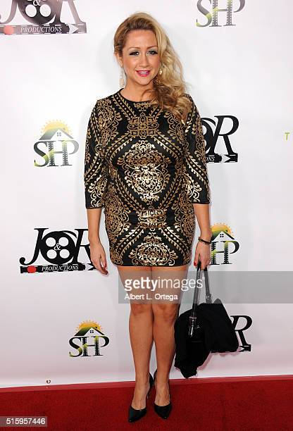 Actress Fiona Domenica arrives for the Premiere Of JR Productions' Halloweed held at TCL Chinese 6 Theatres on March 15 2016 in Hollywood California