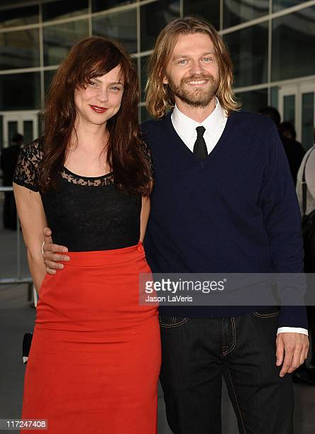 Actress Fiona Dourif and actor Dean Chekvala attend the premiere of HBO's True Blood at ArcLight Cinemas Cinerama Dome on June 21 2011 in Hollywood...