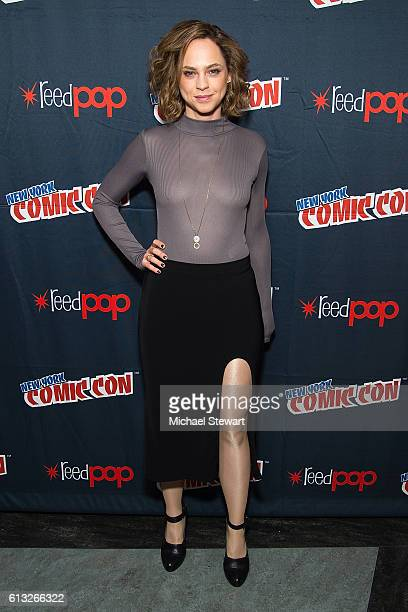 Actress Fiona Dourif attends BBC America Takeover featuring Doctor Who Class and Dirk Gently's Holistic Detective Agency press room during 2016 New...