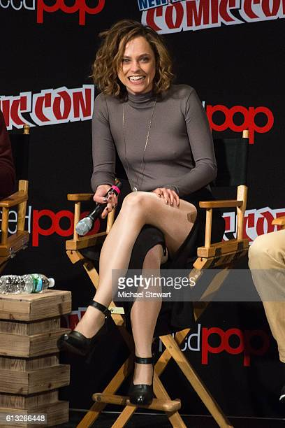 Actress Fiona Dourif attends BBC America Takeover featuring Doctor Who Class and Dirk Gently's Holistic Detective Agency panel during 2016 New York...