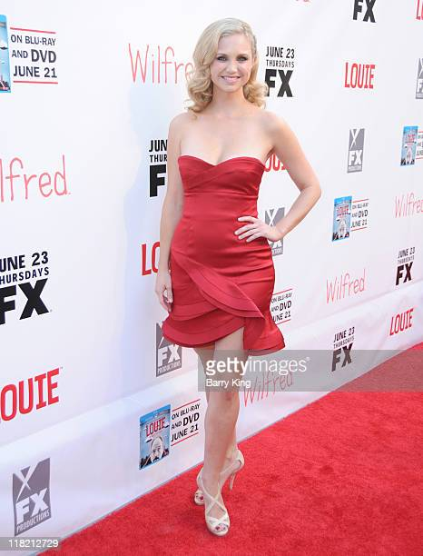 Actress Fiona Fubelmann arrives at FX Network premiere of Wilfred and season two launch of Louie at ArcLight Hollywood on June 20 2011 in Hollywood...