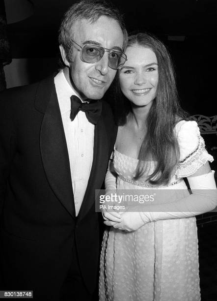 Actress Fiona Fullerton 16 with actor Peter Sellers attending the Royal Charity premiere of their film Alice's Adventures In Wonderland at the Odeon...