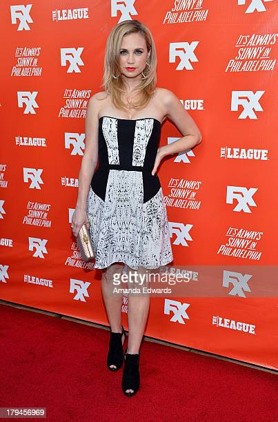 Actress Fiona Gubelmann arrives at the FXX Network launch party featuring the season premieres of It's Always Sunny In Philadelphia and The League at...