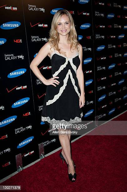 Actress Fiona Gubelmann arrives at the Samsung Galaxy Tab 101 launch party at The Beverly on August 2 2011 in Los Angeles California