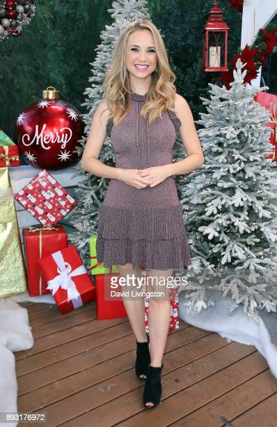 Actress Fiona Gubelmann visits Hallmark's Home Family at Universal Studios Hollywood on December 14 2017 in Universal City California