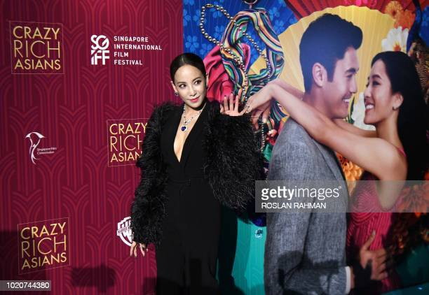 Actress Fiona Xie arrives at the film premiere of Crazy Rich Asians at the Capitol Theatre in Singapore on August 21 2018