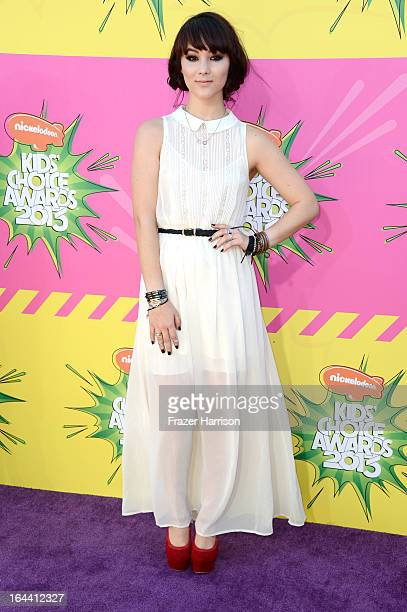 Actress Fivel Stewart arrives at Nickelodeon's 26th Annual Kids' Choice Awards at USC Galen Center on March 23 2013 in Los Angeles California