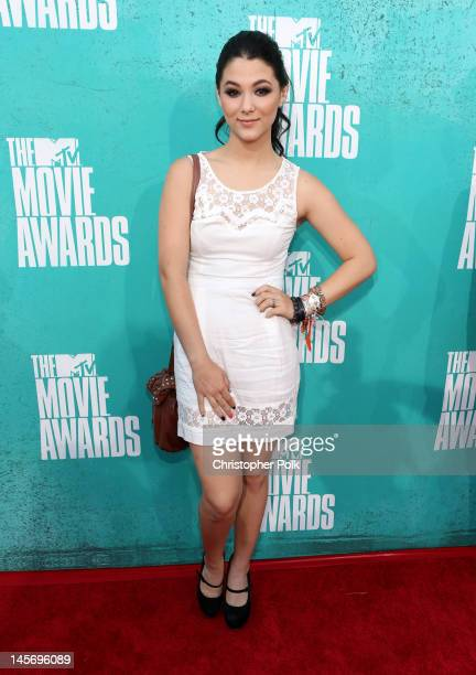 Actress Fivel Stewart arrives at the 2012 MTV Movie Awards held at Gibson Amphitheatre on June 3 2012 in Universal City California