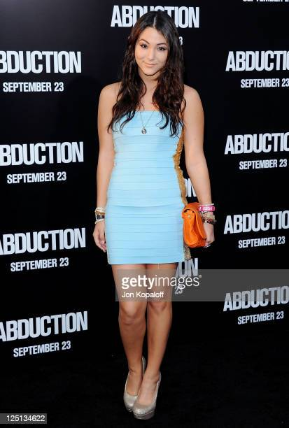 Actress Fivel Stewart arrives at the Los Angeles Premiere Abduction at Grauman's Chinese Theatre on September 15 2011 in Hollywood California