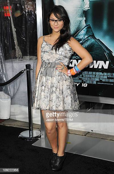 Actress Fivel Stewart arrives at the Los Angeles premiere of 'Unknown' at the Mann Village Theater on February 16 2011 in Westwood California