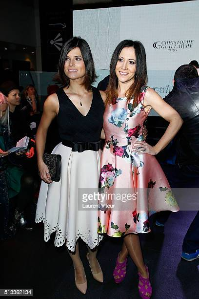 Actress Flavie Pean and Fabienne Carat attends the Christophe Guillarme show as part of the Paris Fashion Week Womenswear Fall/Winter 2016/2017 at...
