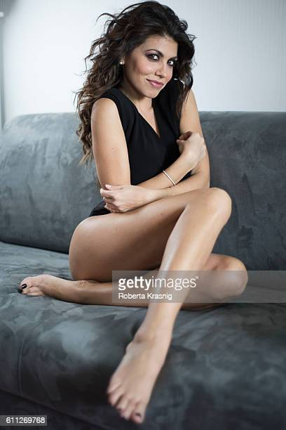 Actress Flora Canto is photographed for self assignment on April 05 2016 in Milan Italy