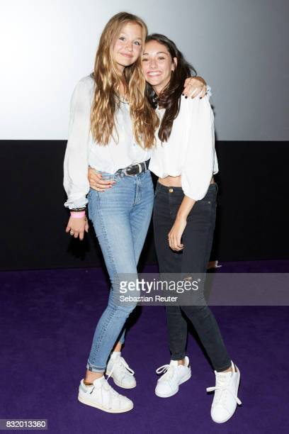 Actress Flora Li Thiemann and actress Emily Kusche attend the 'Tigermilch' premiere at Kino in der Kulturbrauerei on August 15 2017 in Berlin Germany