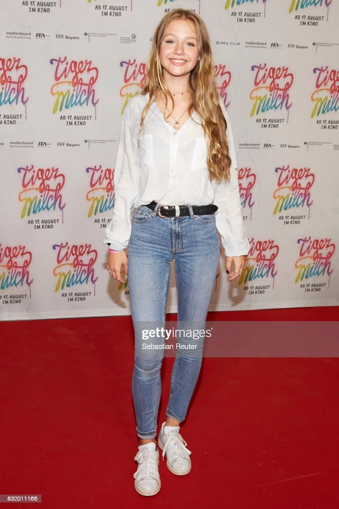 Actress Flora Li Thiemann attends the 'Tigermilch' premiere at Kino in der Kulturbrauerei on August 15, 2017 in Berlin, Germany.