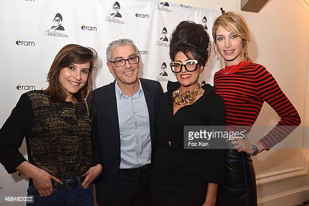 actress Flore Bonaventura Eram CEO Francois Feijoo Ines Olympe Mercadal and Pauline Lefevre attend The 'Eram By Ines Olympe Mercadal' Capsule Show At...
