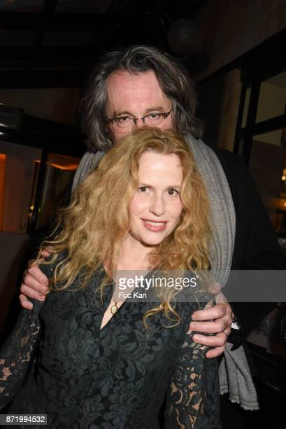Actress Florence Darel and husband composer Pascal Dusapin attend the 'Prix De Flore 2017' Literary Prize Winner Announcement At Cafe De Flore on...