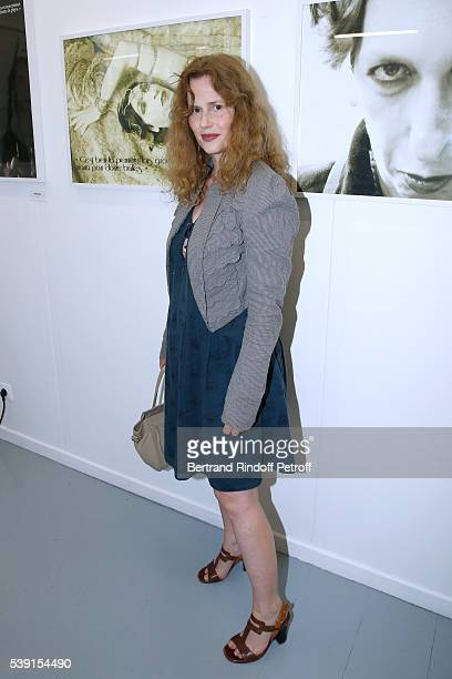Actress Florence Darel attends the '55 Politiques' Exhibition of Stephanie Murat's Pictures Opening Party at Galerie Dupin on June 9 2016 in Paris...