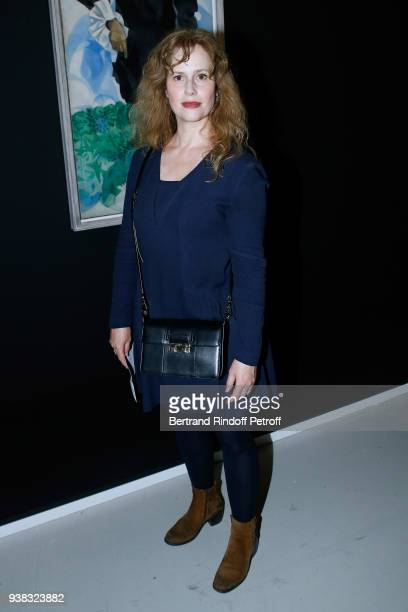 Actress Florence Darel attends the 'Chagall Lissitzky Malevitch L'Avantgarde Russe a Vitebsk 19181922' Press Preview at Centre Pompidou on March 26...