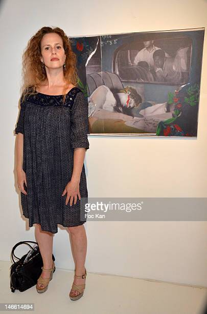 Actress Florence Darel attends the Une Exposition Particuliere by Ettore Scola and Le Magicien d'Hollywood by Dan Tavoularis Exhibition Preview at La...