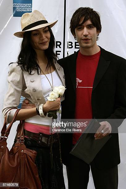 Actress Florence Faivre and producer Emanuel Michael attend the premiere of 'The Elephant King' during the 5th Annual Tribeca Film Festival April 26...