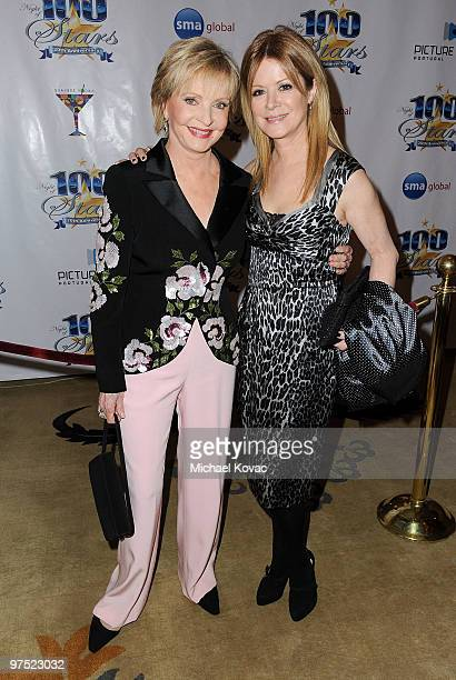 Actress Florence Henderson and daughter Barbara Chase arrive at the 20th Annual Night Of 100 Stars Awards Gala at Beverly Hills Hotel on March 7 2010...