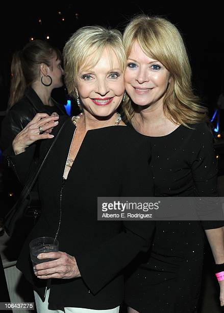 Actress Florence Henderson and daughter Barbara Chase attend ABC's Dancing With The Stars 200th episode party on November 1 2010 in Los Angeles...