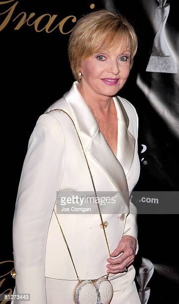 Actress Florence Henderson arrives at The 33rd Annual American Women in Radio Television's Gracie Allen Awards held at the Marriott Marquis on May 28...