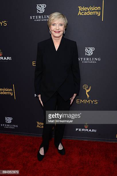 Actress Florence Henderson arrives at the Television Academy's Performers Peer Group Celebration at Montage Beverly Hills on August 22 2016 in...