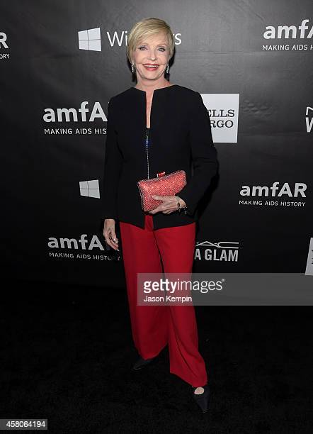 Actress Florence Henderson attends the 2014 amfAR LA Inspiration Gala at Milk Studios on October 29 2014 in Hollywood California