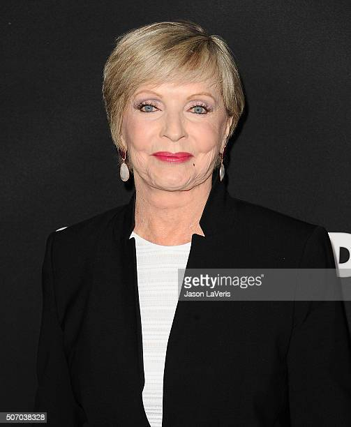 Actress Florence Henderson attends the premiere of 'Fifty Shades of Black' at Regal Cinemas LA Live on January 26 2016 in Los Angeles California