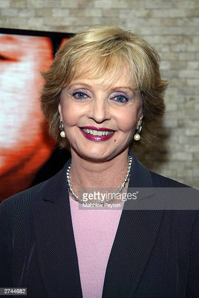 Actress Florence Henderson attends TV Land and Nick At Nite's launch of 'Family Table' prosocial campaign at Tony Di Napoli's November 19 2003 in New...