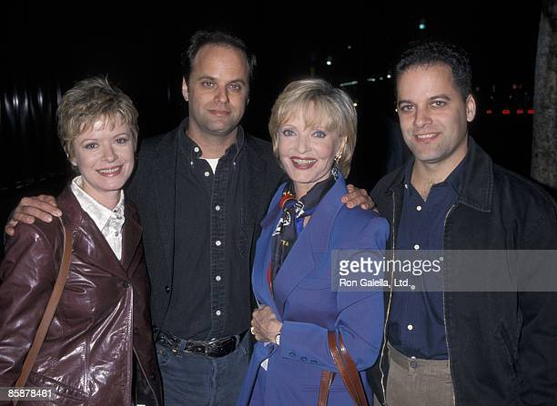 Actress Florence Henderson daughter Barbara Bernstein and sons Robert Bernstein and Joseph Bernstein attending the premiere of Late Last Night on...