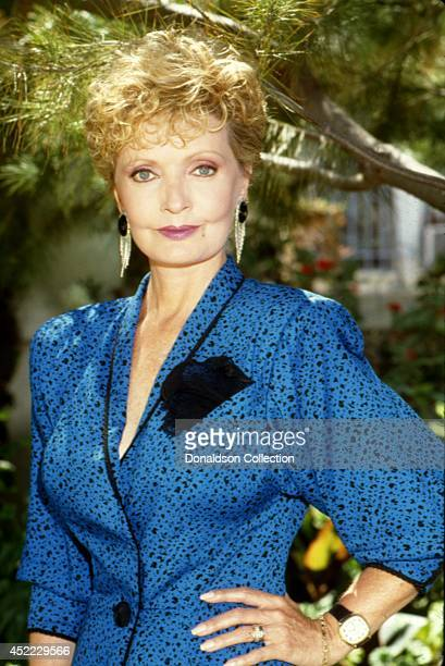 Actress Florence Henderson poses for a portrait session at home in circa 1990 in Los Angeles California