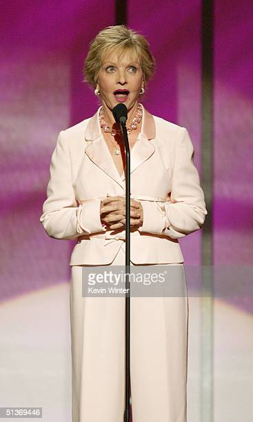 Actress Florence Henderson speaks on stage at the 5th Annual 'Women Rock' Lifetime Television's fifth annual signature concert for the fight against...
