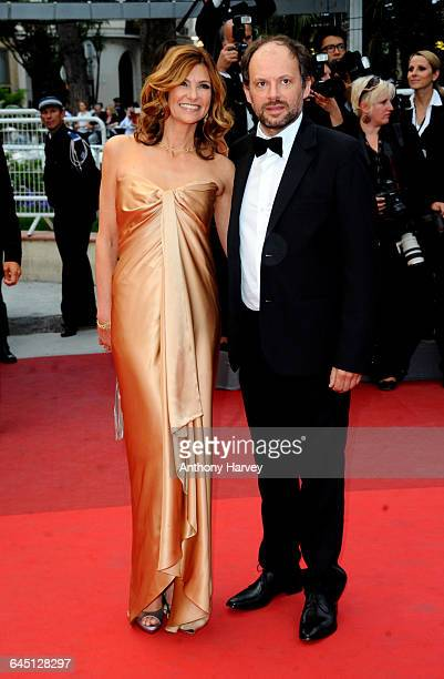 Actress Florence Pernel and Denis Podalydes attend the 'La Conquete' Premiere at the Palais des Festivals during the 64th Cannes Film Festival on May...