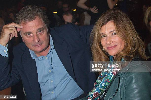 Actress Florence Pernel and her husband Director Patrick Rotman at Theatre du Grand PointVirgule on October 22 2012 in Paris France