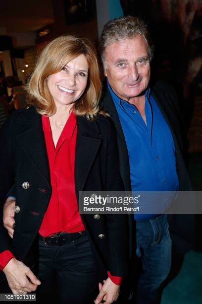 Actress Florence Pernel and her husband Patrick Rothman attend Le Banquet Theater play at Theatre du RondPoint on October 11 2018 in Paris France