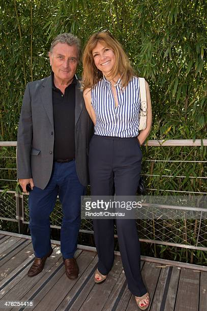 Actress Florence Pernel and her husband Patrick Rothman attend the Men Final of 2015 Roland Garros French Tennis Open Day Fithteen on June 7 2015 in...