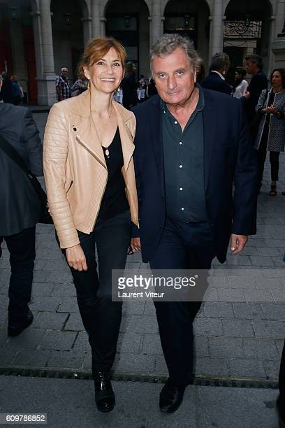 Actress Florence Pernel and her husband Patrick Rotman attend Couple Theater Play at Theatre Edouard VII on September 22 2016 in Paris France
